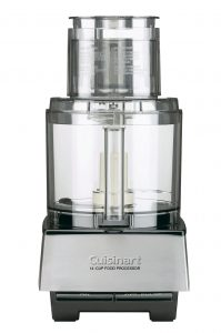 A Cuisinart food processor with riveted blade.