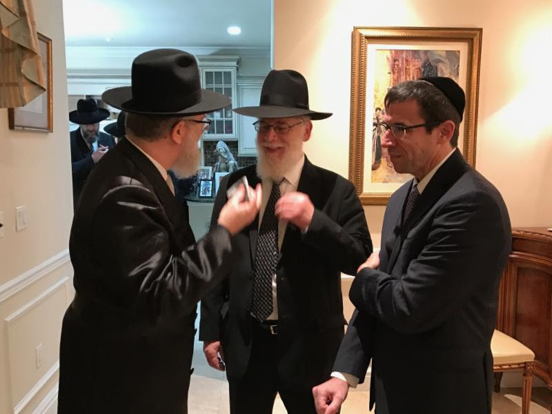 L to R: Rabbi Labish Becker, Executive Director, Agudath Israel of America; Rabbi Ephraim Leizerson, Agudath Israel of America, Florida Regional Vice President; Dr. Jonathan Rubin, President, Agudath Israel of Florida.