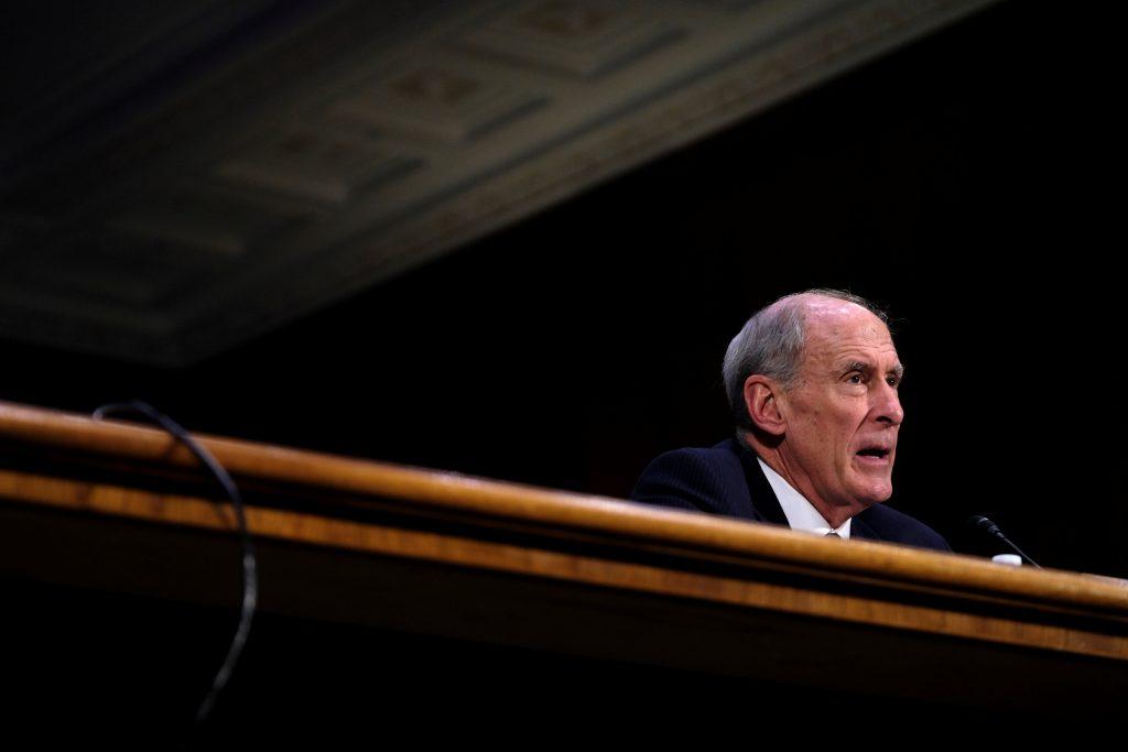 Dan Coats (R-IN) testifies before the Senate Select Committee on Intelligence