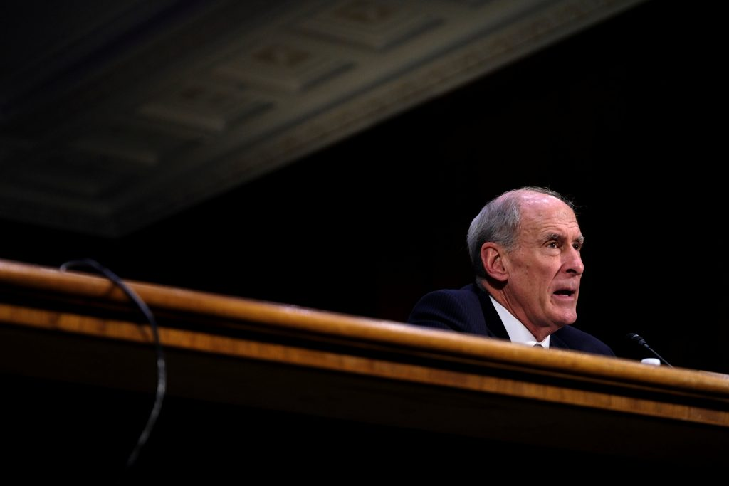 Dan Coats (R-IN) testifies before the Senate Select Committee on Intelligence