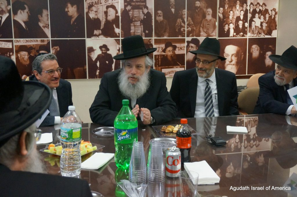 On Tuesday, February 21st, Agudath Israel of America hosted Rabbi Chanoch Zeibert, the Mayor of Bnei Brak, who was in America on a brief visit.
