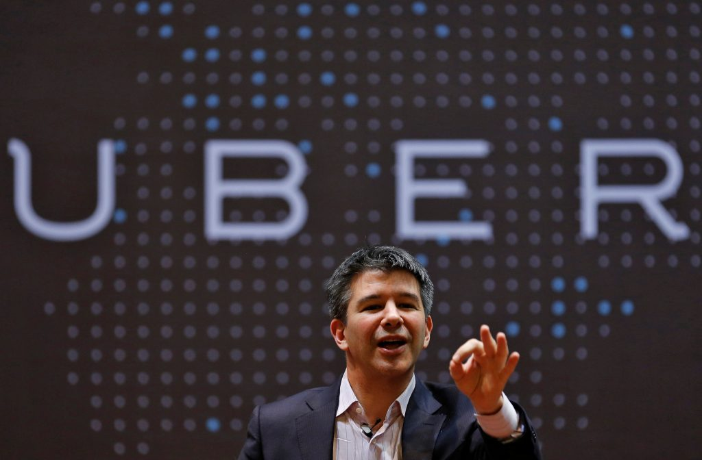 ber CEO Travis Kalanick speaks to students during an interaction at the Indian Institute of Technology (IIT) campus in Mumbai