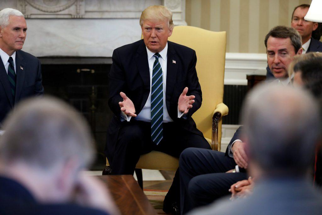 Donald Trump, Republican, conservatives, healthcare, feud, party