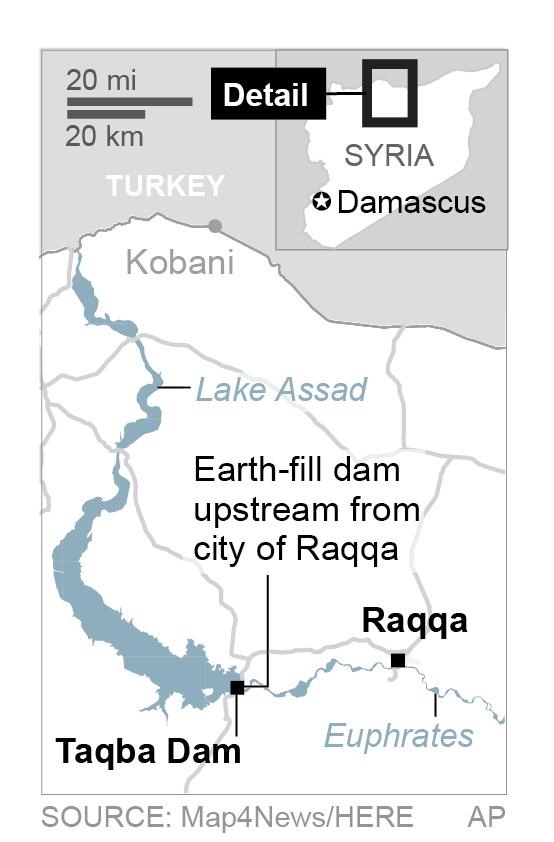 U.S., Syrian, Kurdish, Arab, military airport, Syria, Islamic State, dam