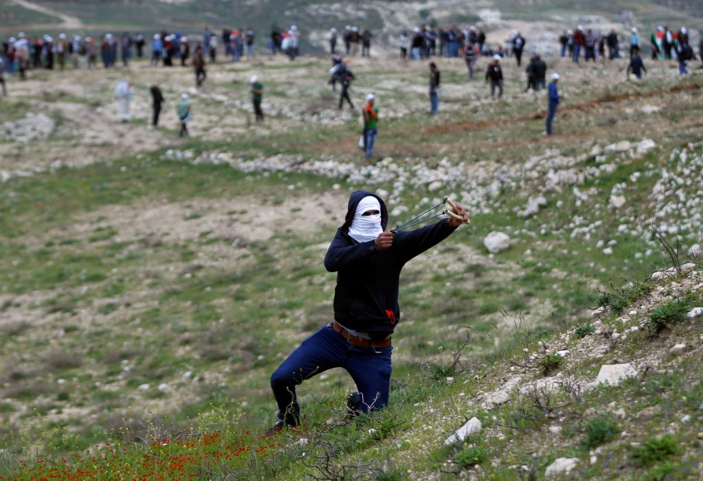 Palestinian, protest, Land Day, Israel