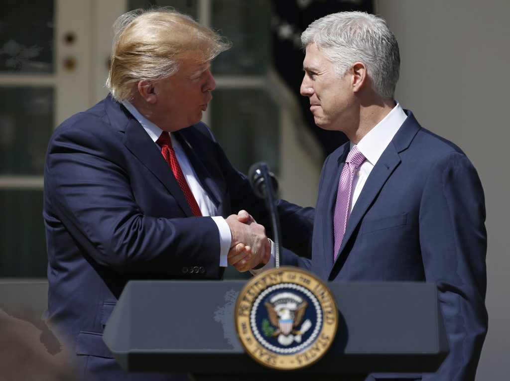Gorsuch, Supreme Court, Trump, sworn in