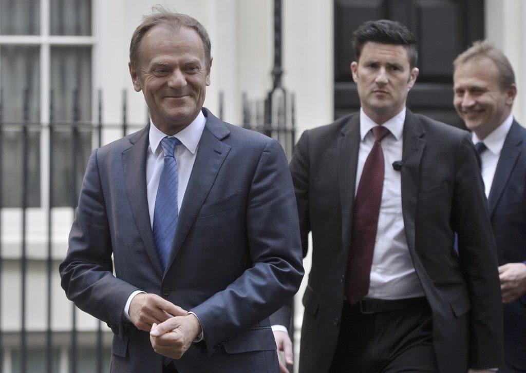 May, Tusk, Brexit Talks