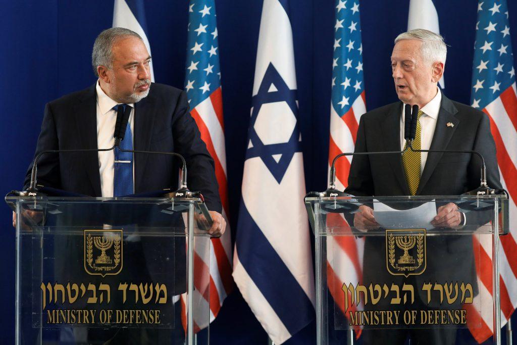 Mattis, Syria, Israel, chemical, Assad, Liberman