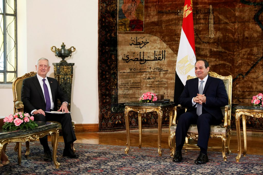 U.S., Defense Secretary, Egypt, Visit