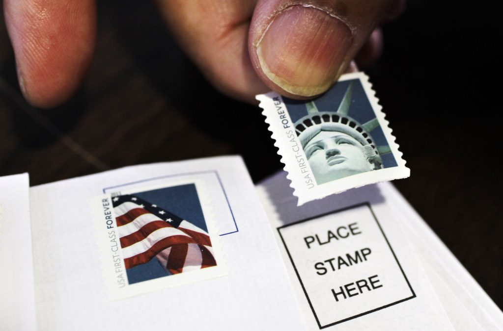 stamp, postal service
