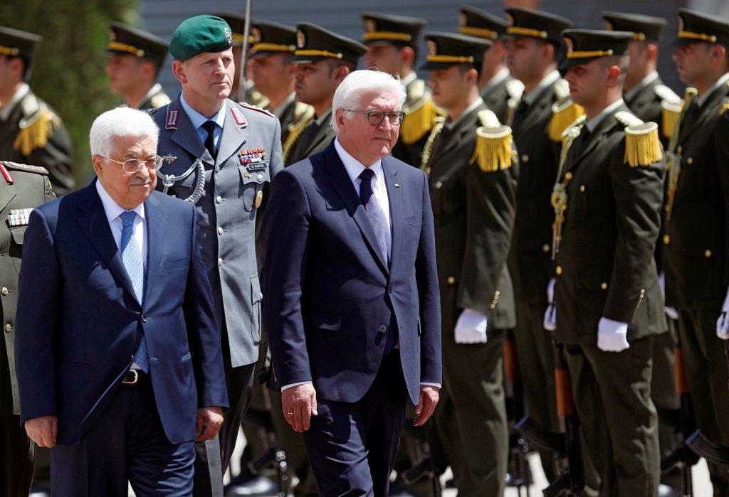 Abbas, Trump, Steinmeier, Tetanyahu