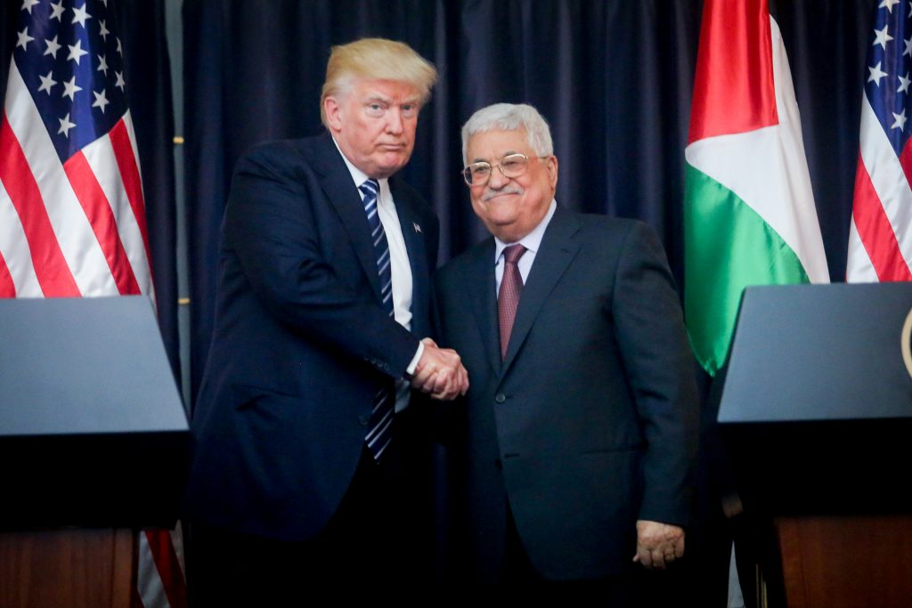 trump, beit lechem, palestinians, Abbas