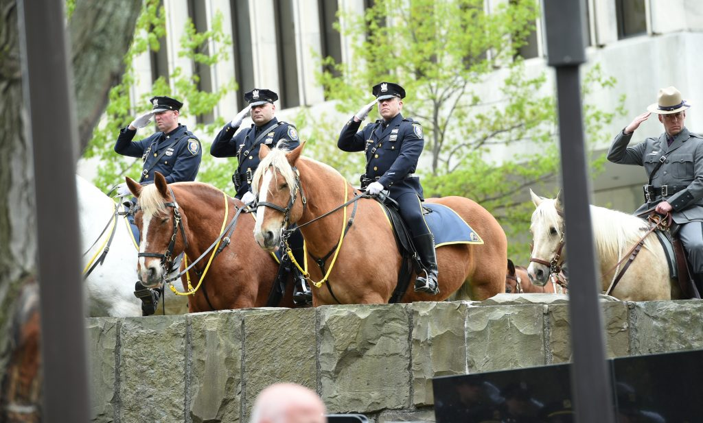 State Trooper, Procession, Police Memorial
