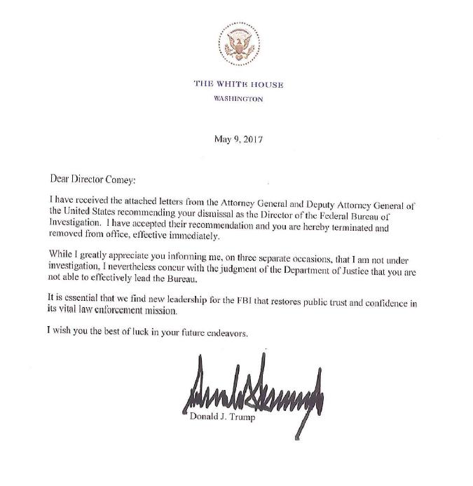 READ, Letters, President Trump, AG Sessions, Deputy AG Rosenstein, Rosenstein