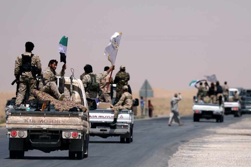 U.S.-Backed, Force, Launches, Assault, Islamic State, Capital, Syria