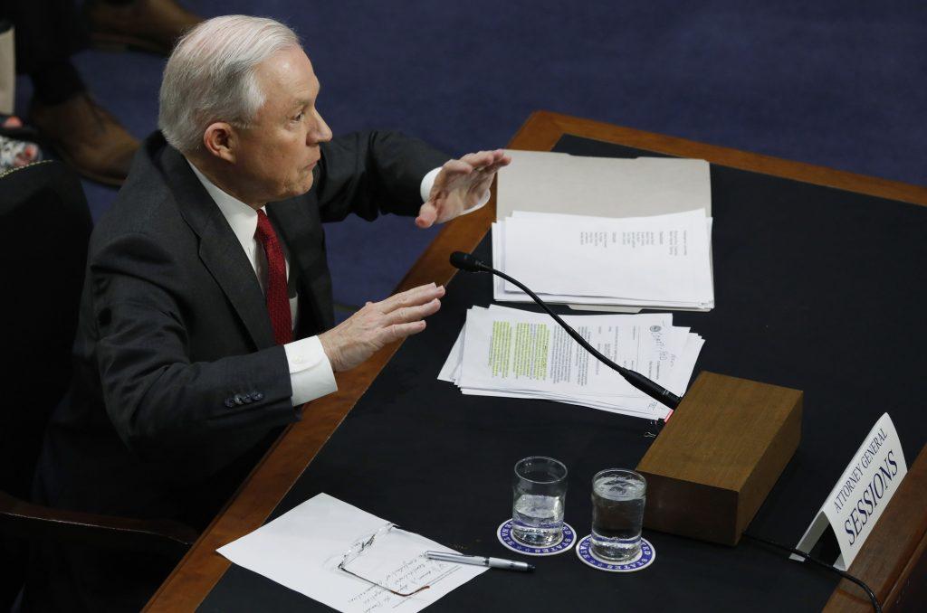 Sessions testimony, Senate, intelligence