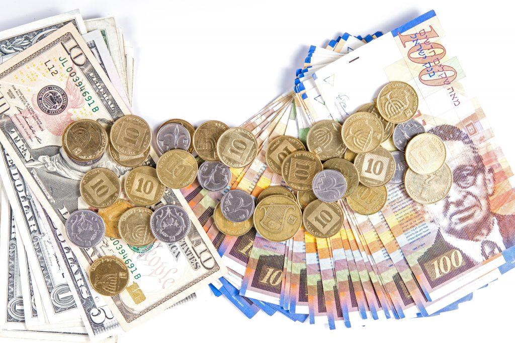 shekel dollar