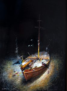 Revolutionary War gunboat
