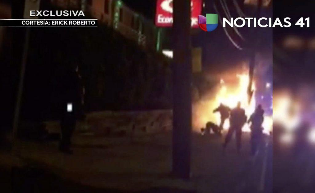 Burning, Bystander, Seen, Video, Kicked, Police