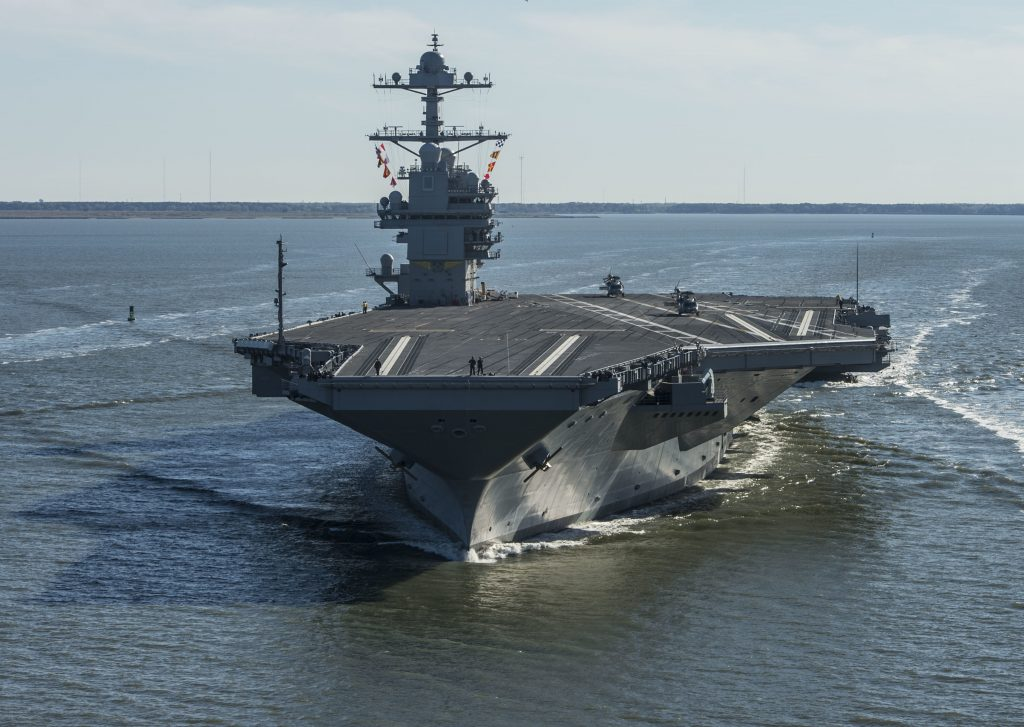 New, U.S. Carrier, Hobbled, Flaws, Launching, Landing Planes, Costs Soar