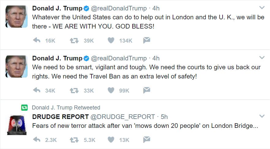 Trump, Argues, Travel Ban, Attacks, London