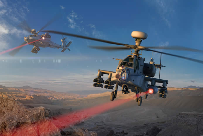 Laser-Equipped, Helicopter, Zaps, First Target, Defense Contractor