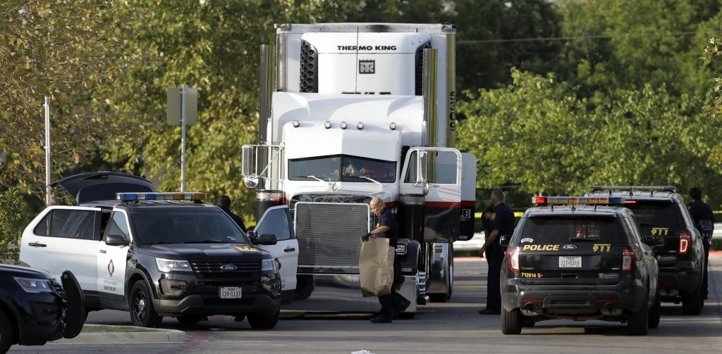 immigrants truck
