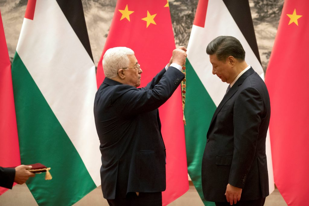 Abbas, Beijing, Visit, Promise, Peacemaking