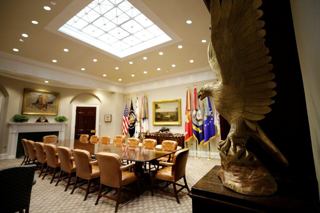 White House Unveils Newly Renovated Roosevelt Room | Jewish News | Israel News | Israel Politics