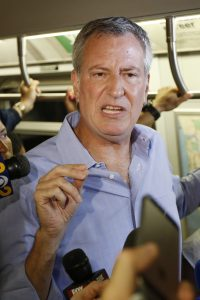 de Blasio subway tax