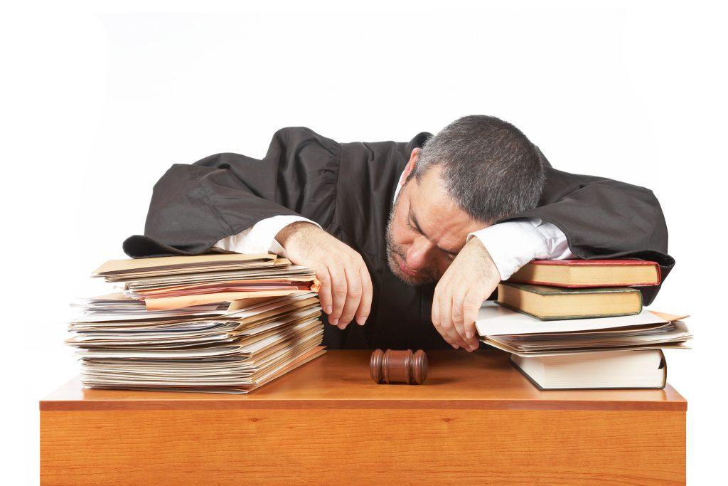 judge sleeping, sleeping judge