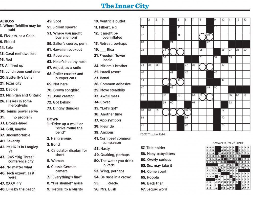 Boston globe crossword app