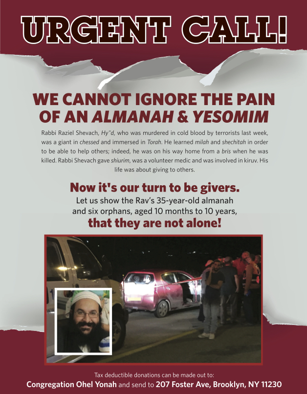 Urgent Call: We Cannot Ignore The Pain Of An Almanah and Yesomim