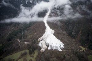 avalanche Italy, switzerland, alps
