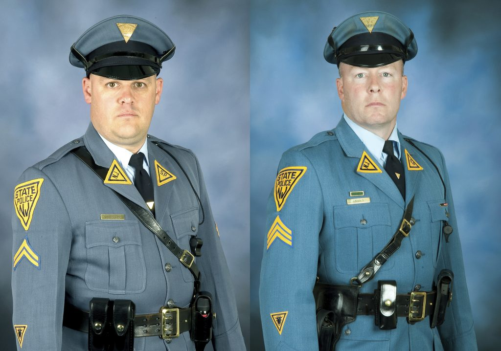New Jersey troopers, bomb