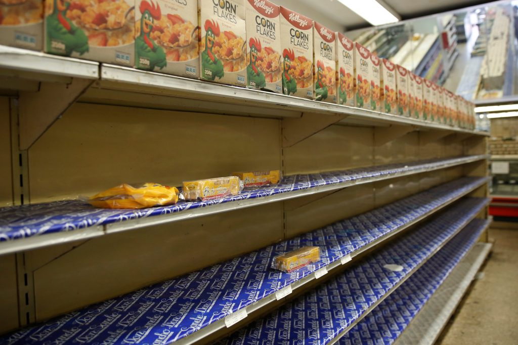 Venezuela authorities re-activate Kellogg plant a day after it pulled out
