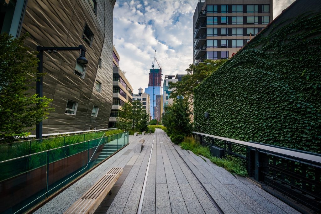 elevated park, high line