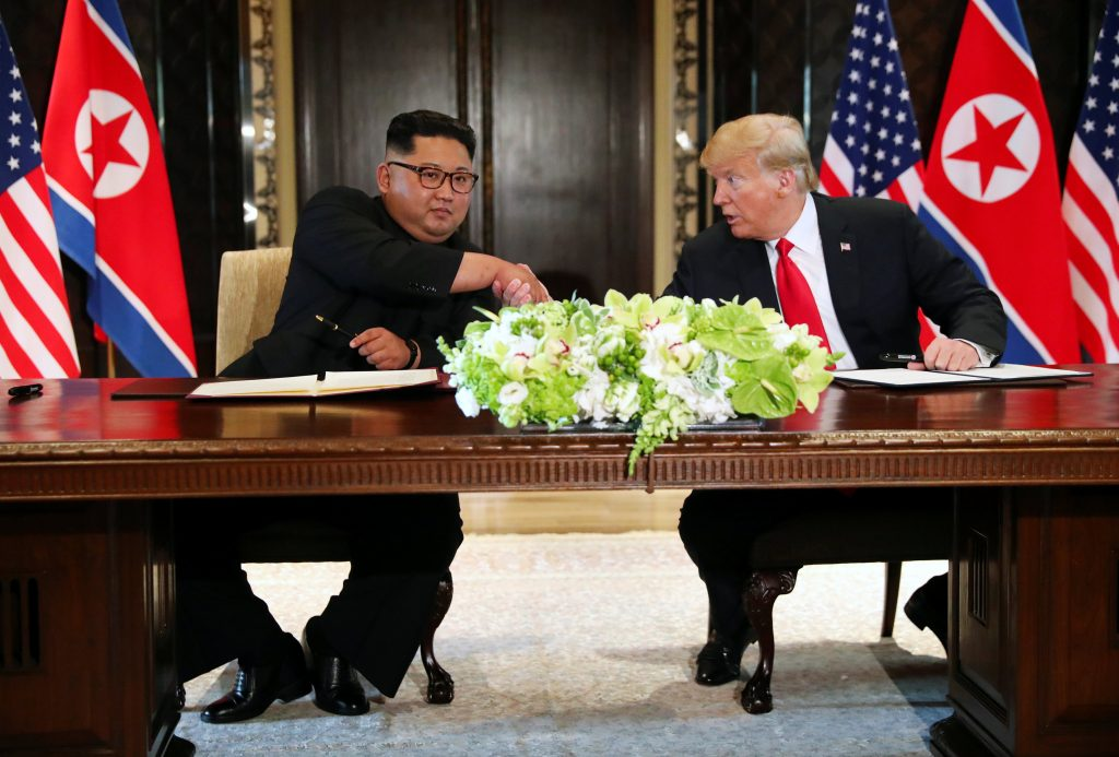 Image result for kim jong un and trump joint statement