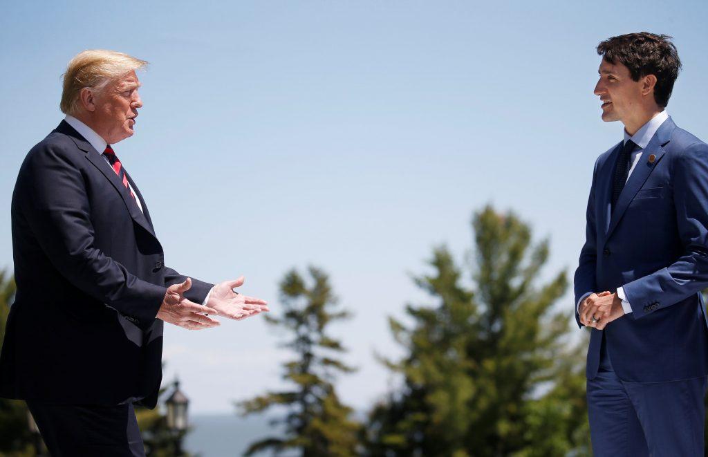 Trump Trudeau, canada boycott