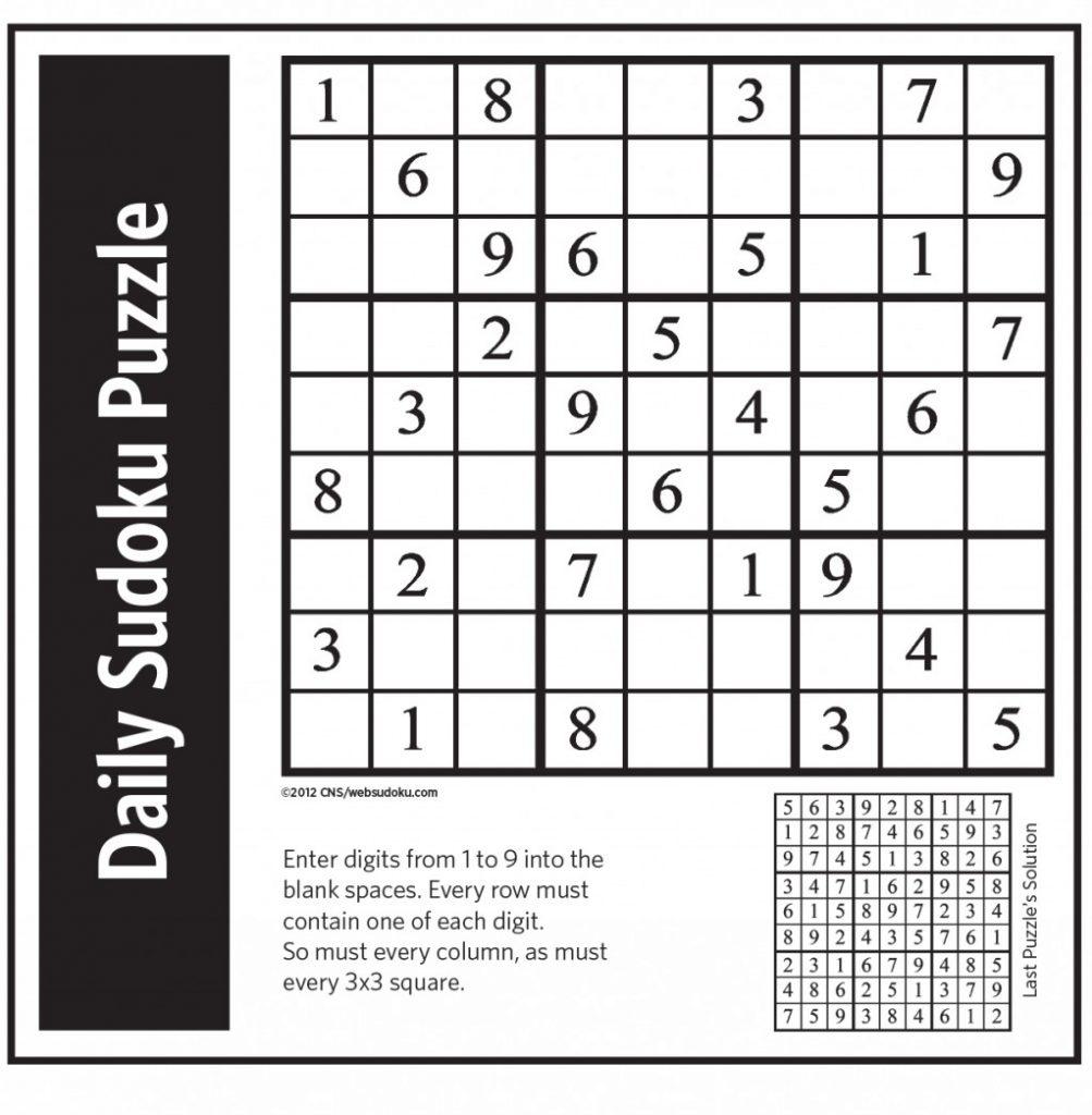 graphic regarding Washington Post Sudoku Printable referred to as Sudoku 2018