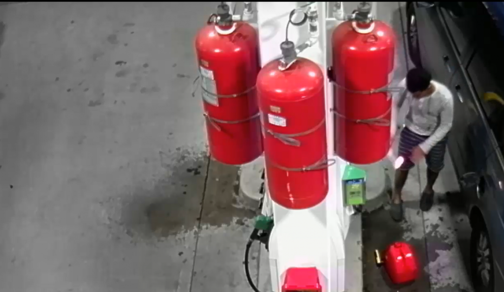 fire gas station