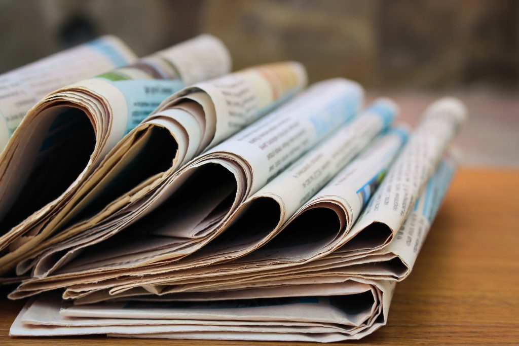 newspapers, newspaper, newsprint tariffs