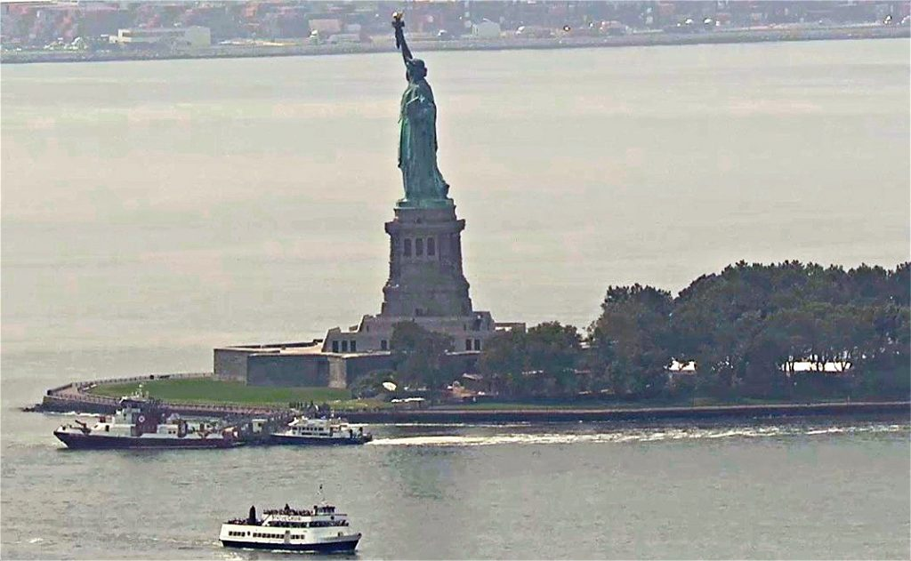 statue of liberty fire