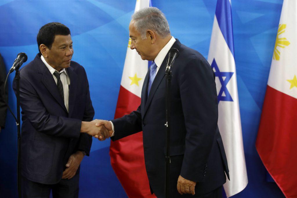 Netanyahu Philippines Duterte Sign Bilateral Agreements Jewish