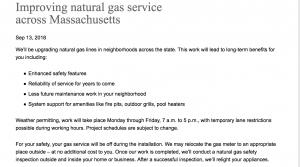 massachusetts gas