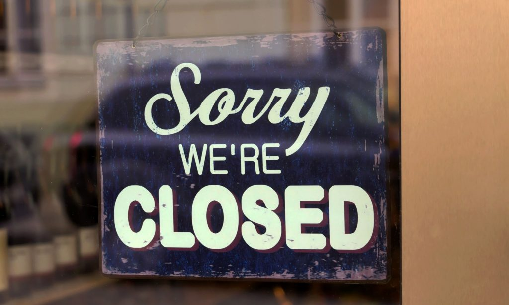 sorry we're closed, stores thanksgiving