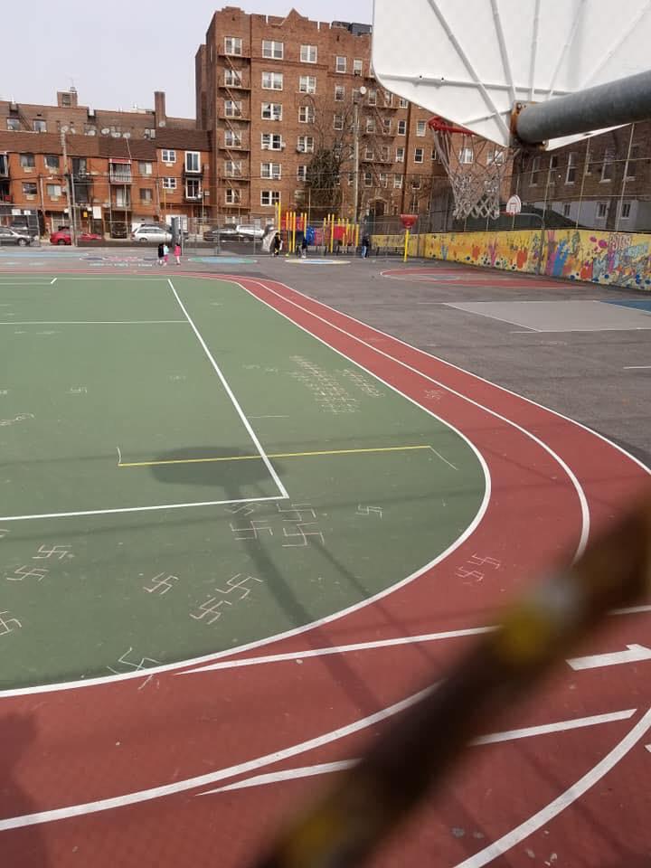 swastikas playground