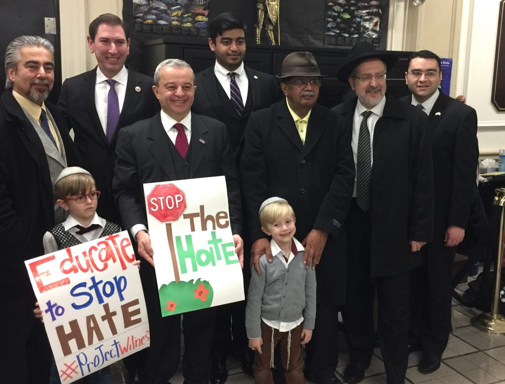 chaim deutsch, anti-semitism rally