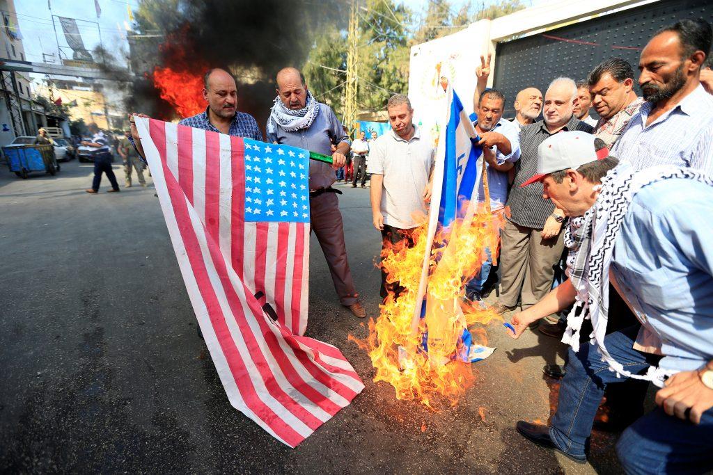 palestinian protestors