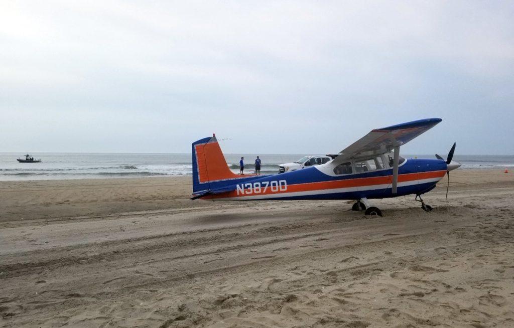 plane beach